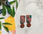 Bold Terrazzo Clay Earrings