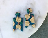 Citrus Floral Clay Earrings