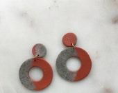Terracotta Stone Cutout Clay Earrings