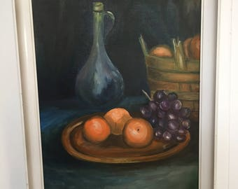 Framed portrait of food and drink