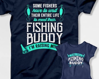 8d8b5031 Father Son Matching Shirts Dad And Daughter T Shirts Daddy And Me Clothing  Family Outfits Fishing Gifts For Fishermen TShirt TEP-256-255