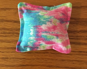 Tie dyed Pink, Blue, Green, White Catnip Toy, Pillow