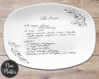Handwritten Recipe Personalized Platter | Handwriting • Recipe Card • Keepsake