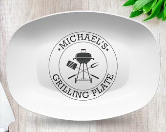BBQ Custom Personalized Platter | Father's Day • Grill • Butcher Cuts • Summer • Outdoors • Cow • Pig • Chicken