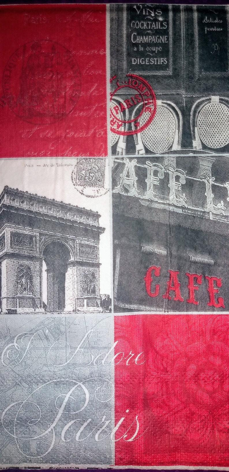 Paris ~ Decoupage Napkins ~ Set of 3 ~ Papercrafts ~ Ephemera