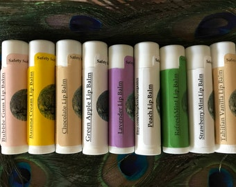 Organic Lip Balm...Choose From 9 Different Flavors/Organic Ingredients/Long Lasting/All Natural Lip Care/Esthetician Made