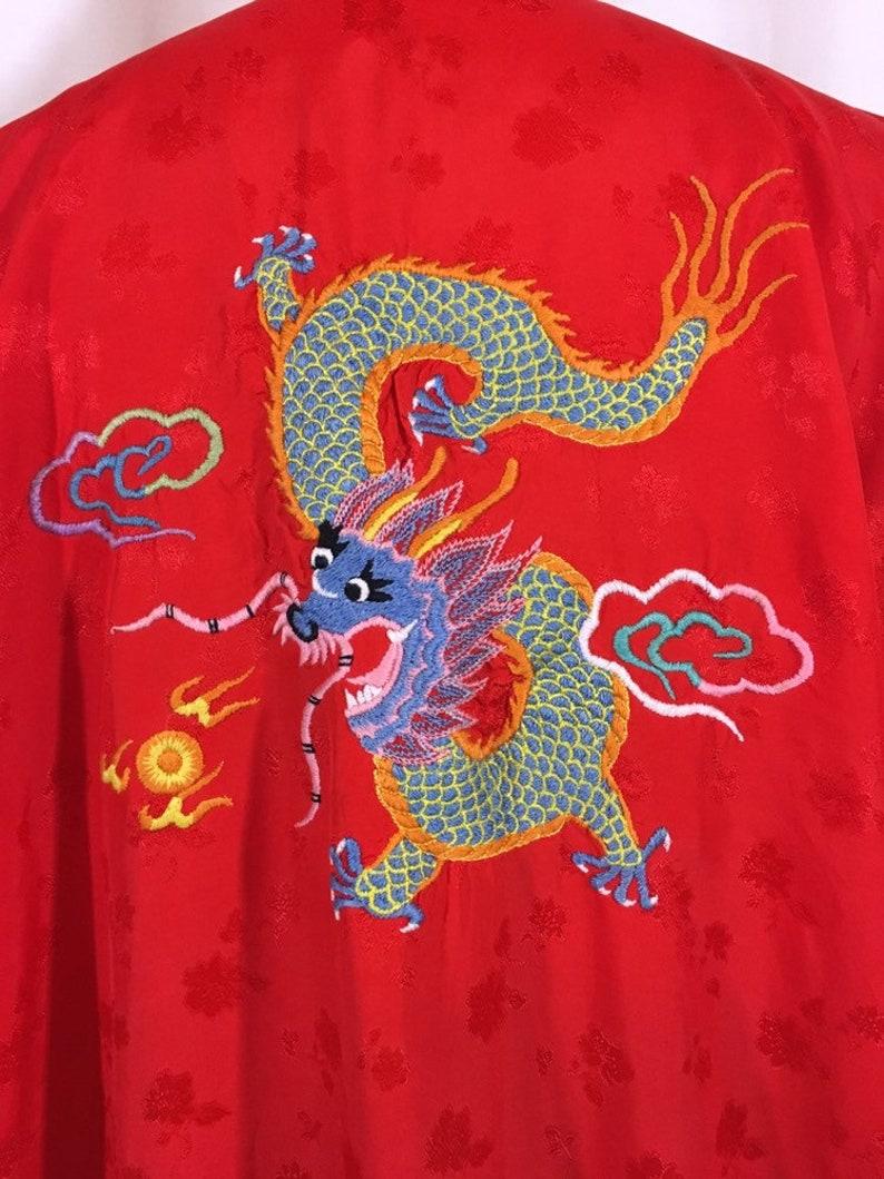 Vintage Embroidered Dragon KimonoRobe