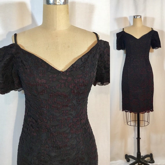 Vintage 80s Lace Dress  932f7780a
