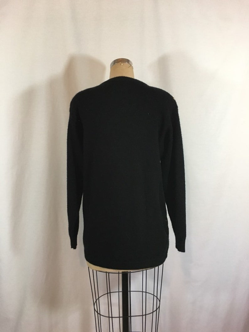Vintage 80s Argyle Sequin Sweater