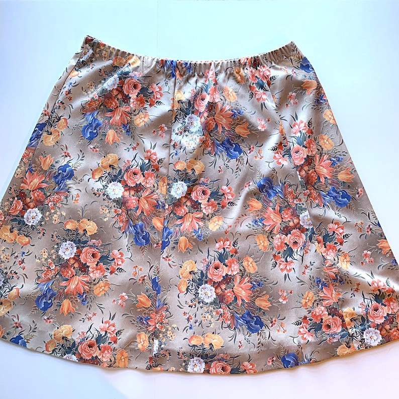 Vintage 1970s Blouse /& Skirt Set Fall Fall Floral