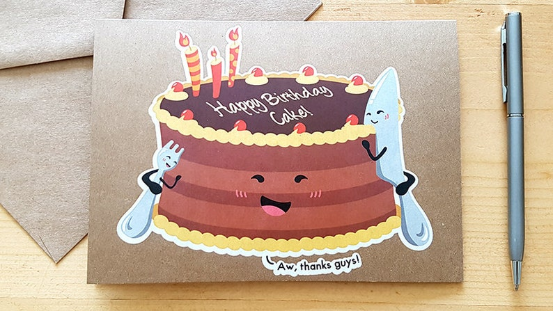 Outstanding Birthday Cakes Have Birthdays Too Birthday Card Funny Etsy Personalised Birthday Cards Paralily Jamesorg