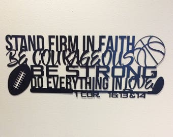 Stand Firm in Faith Wall Art