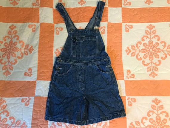 Vintage Bib Overall Shorts Denim Overall Shorts Vi