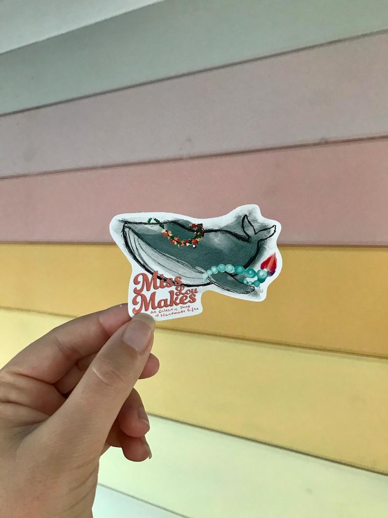 Permanent Sticker MLM Whale Sticker Waterproof Vinyl
