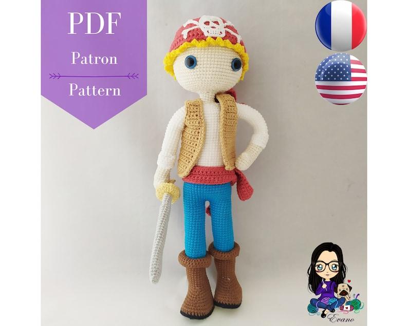 Crochet pattern PDF  Tom  image 0