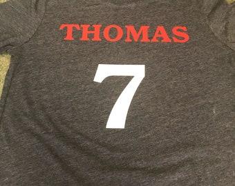Birthday t-shirt sports theme