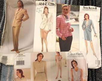 Vogue Calvin Klein American Designer Pattern 1635 Sizes 12 14 16,Vogue Anne Klein American Designer Pattern 2942 Sizes 12 14 16, V2544
