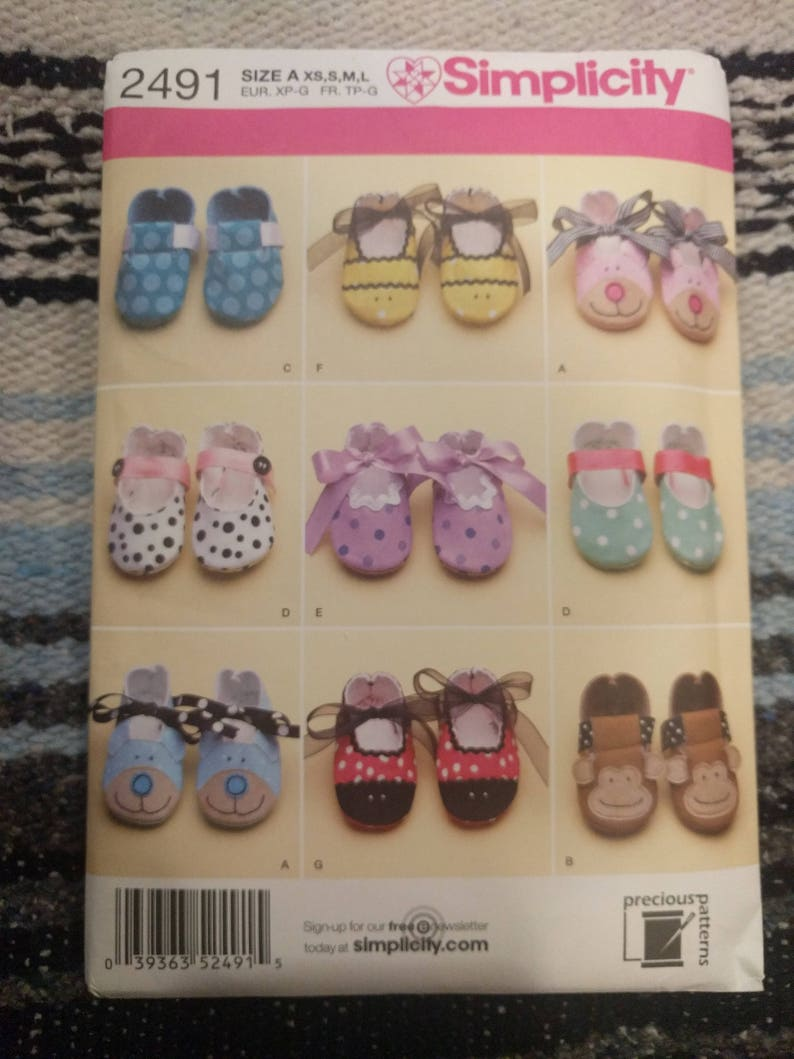 625aca6eb6bdf Baby shoes Pattern, Babies shoes sewing pattern, kids shoes Pattern,  Simplicity 2491,Simplicity Pattern 2491 Baby Booties