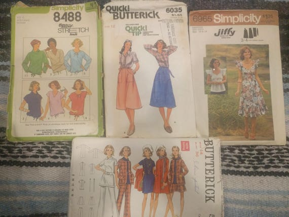 Bundle Sewing Patterns Simplicity 6965 Simplicity 8488 Etsy