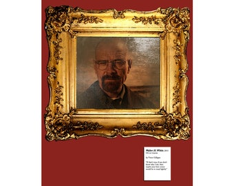 Breaking Bad - Walter White Poster - Faux Oil Painting