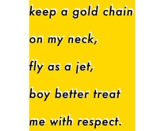 BROCKHAMPTON GOLD Minimalist Poster