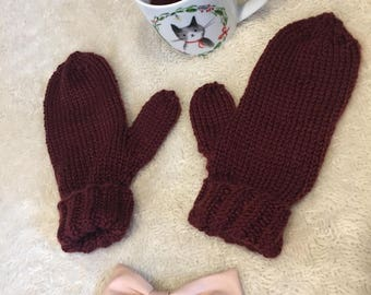 Madrona Mittens, warm and cozy.