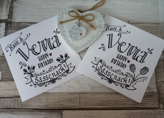 Outlander Inspired Birthday Card With Have A Verra Happy Etsy
