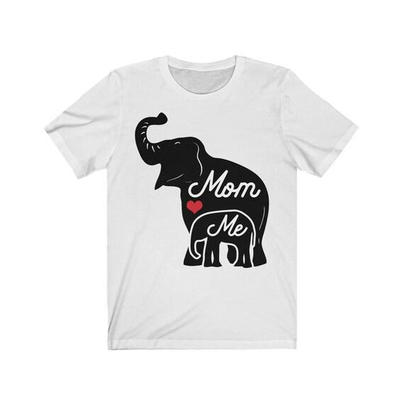 Mom&Me Elephants Unisex Jersey Short Sleeve Tee