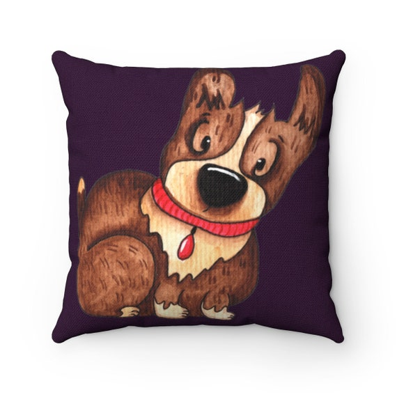 Red Rover Spun Polyester Square Pillow