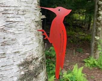 Metal Bird Woodpecker Garden Decor