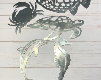 Metal Sea Creature Signs