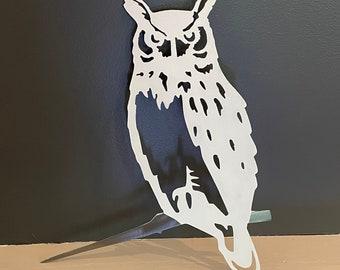 Metal Bird OWL Tree Mount