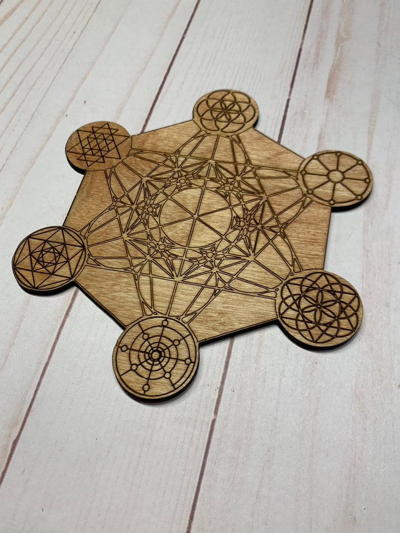Metatrons Cube Crystal Grid with 6 other Grids on the Points image 0