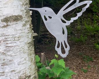 Metal Bird Hummingbird Garden Decor