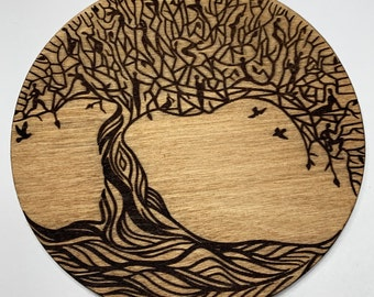Tree Of Life Laser Engraved Wooden