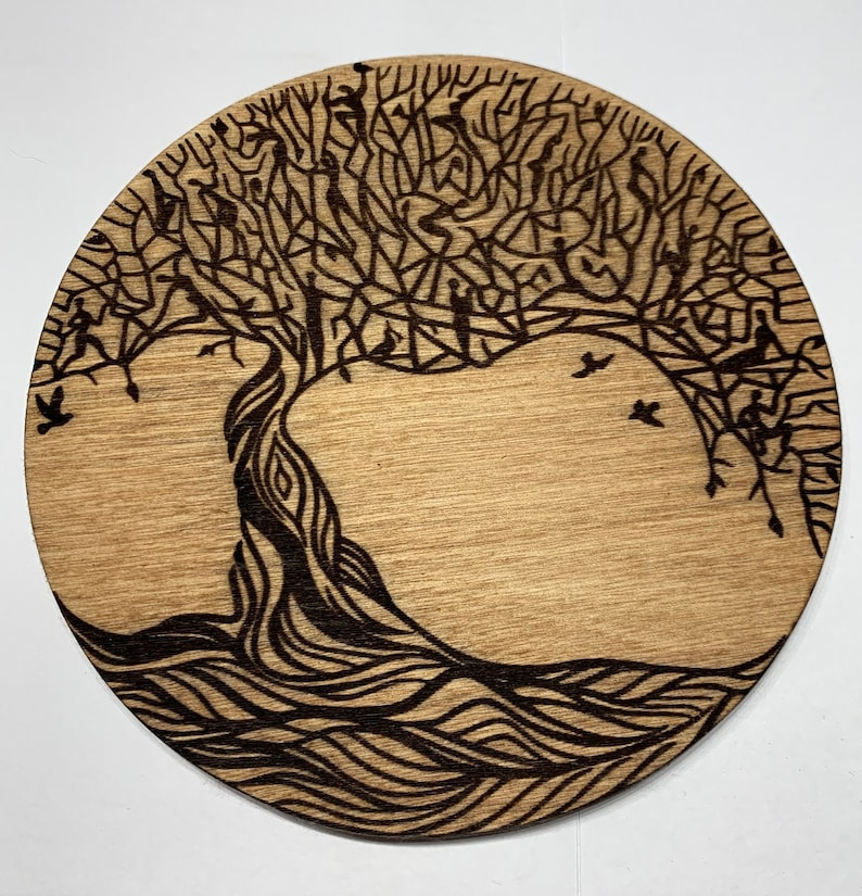 Tree Of Life Laser Engraved Wooden image 0