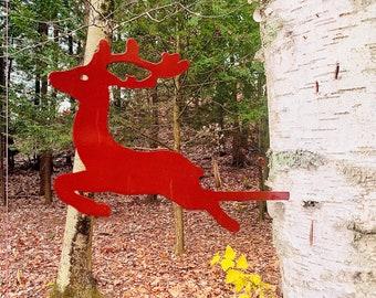 Metal Reindeer Tree Ornament Powder Coated