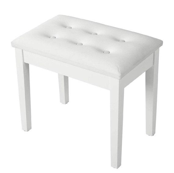Astounding Vanity Stool White Or Black Ncnpc Chair Design For Home Ncnpcorg