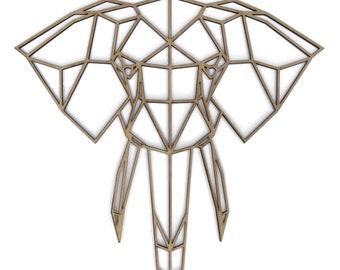Geometric wooden Elephant