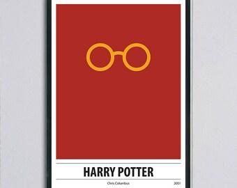 Modern retro printable movie poster, Harry Potter, minimal poster,