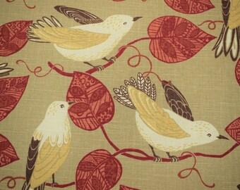 Bird Drapery Fabric Etsy