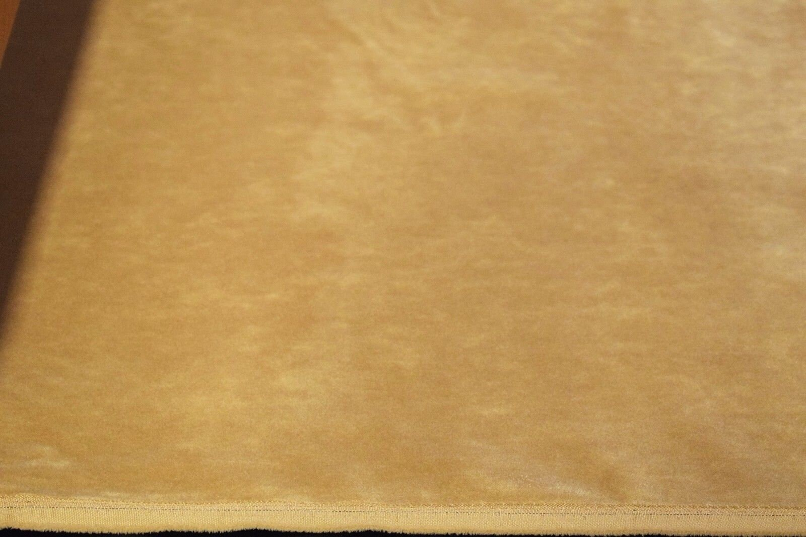 "Beige Tan Flocked Velvet Upholstery Sueded Fabric 56/"" Wide Soft Plush"