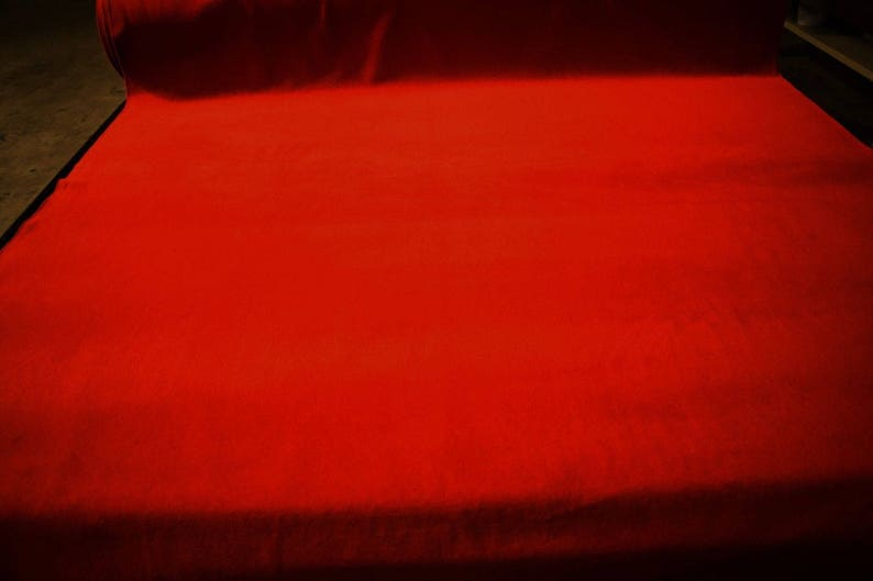 Burnt Orange Double Sided Polartec Polar Fleece Fabric 62W Jacket Hunting Soft