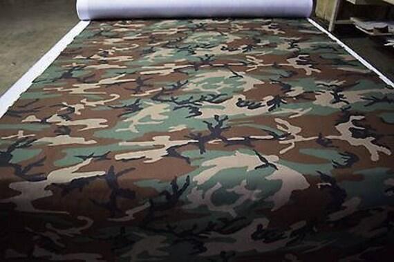 150cm de ancho Material de la Tela Lona Woodland peso mediano 100/% algodón