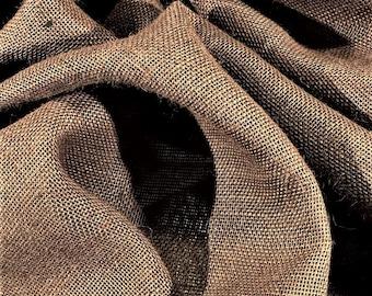 "Jute Burlap Fabric Medium Brown 47"" Wide 10 OZ Premium Upholstery By The Yard JT20"