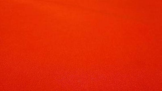 """Hunting Fabric Canvas Duck Safety Orange By The Yard 60/""""W Water Repellent DWR"""