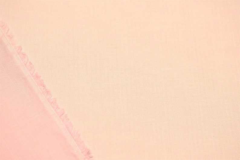 Baby Pink 100/% Cotton Lawn Sheer Apparel Fabric Craft Shirting Dress 56 Wide