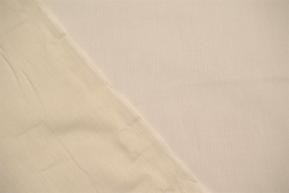 """Off White Ivory 100/% Cotton Lawn Sheer Apparel Fabric Craft Shirting Dress 56/""""W"""