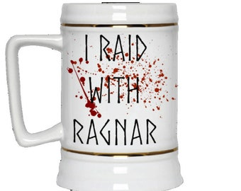 Ragnar Viking Stein There's nothing ordinary about this stein. You raid with Ragnar and the blood splatter proves it.