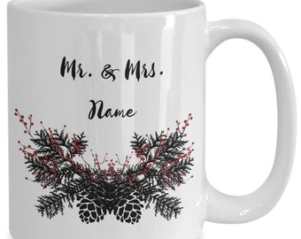Personalized Newlyweds First Christmas 2018 Coffee Mug For The Couple